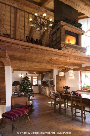 Arte Rovere Antico - Photo by Duilio Beltramone for Sgsm.it - Casa Villardamond - Pragelato - Italy - Wood Interior Design - Mountain House - Home decor