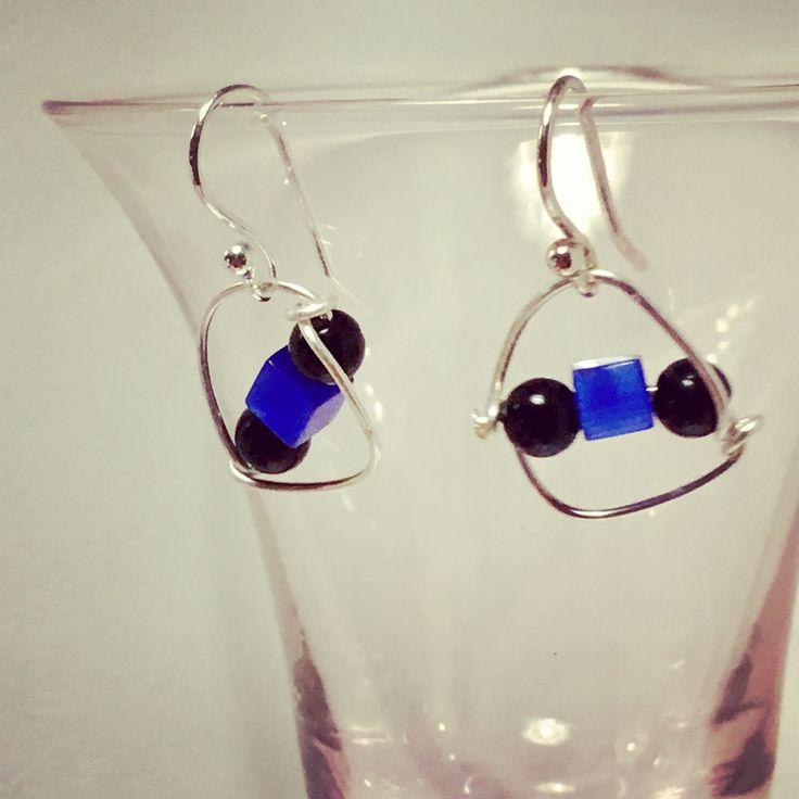 Catseye & Onyx Doodle Earrings from NyxStudioArt