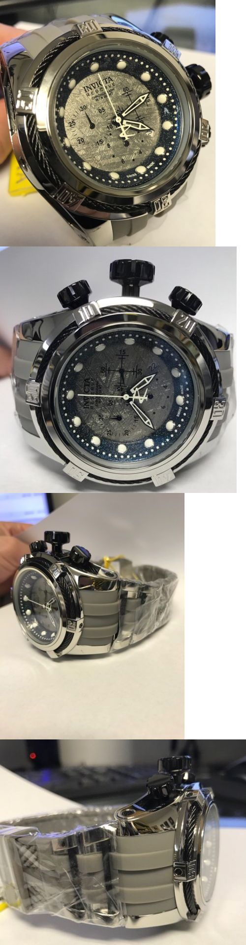 Other Jewelry and Watches 98863: New Invicta 19735 Meteorite Dial Swiss Made Chronograph 52Mm Watch BUY IT NOW ONLY: $559.99