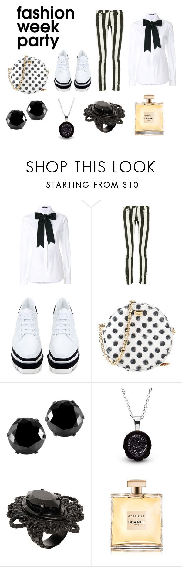 """""""Sans titre #381"""" by c-isabel1991 ❤ liked on Polyvore featuring Dolce&Gabbana, Off-White, STELLA McCARTNEY, West Coast Jewelry, Dsquared2 and Chanel"""