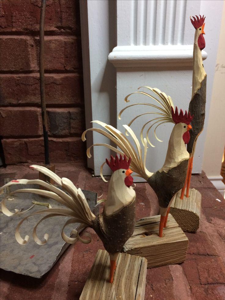 Pin By Scott Vaeth On Folk Art Rooster Whittling Wood