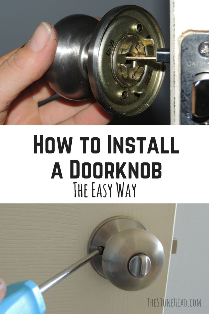 I just installed a new door knob and I'm showing you how to do it ...