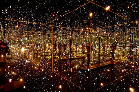 Fireflies on the Water by Yayoi Kusama. Wow. I'd love to see this.