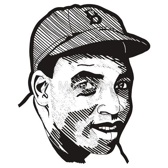 Jackie Robinson Illustration Stickers SOLD!!! Get yours now. #Baseball