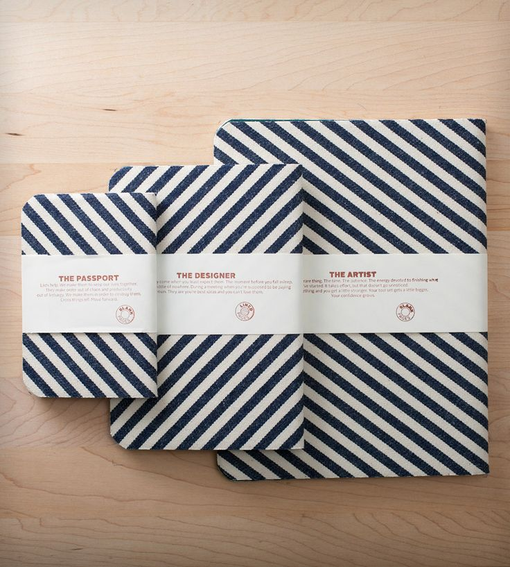 Striped Denim Notebooks