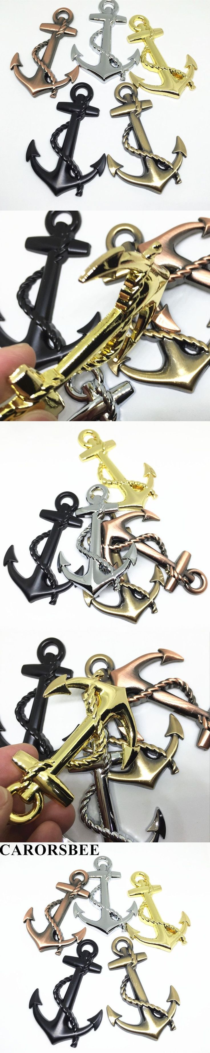 CARORSBEE 3D Zinc alloy metal Cool Boat Anchor Chrome Emblem Badge Decal cross rope car styling pirates One piece Car stickers #coolboataccessories