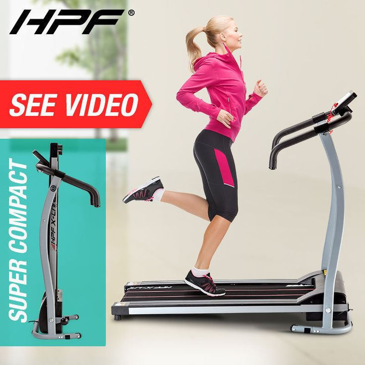 NEW HPF Electric Treadmill Exercise Equipment Machine Fitness Motorised Home Gym
