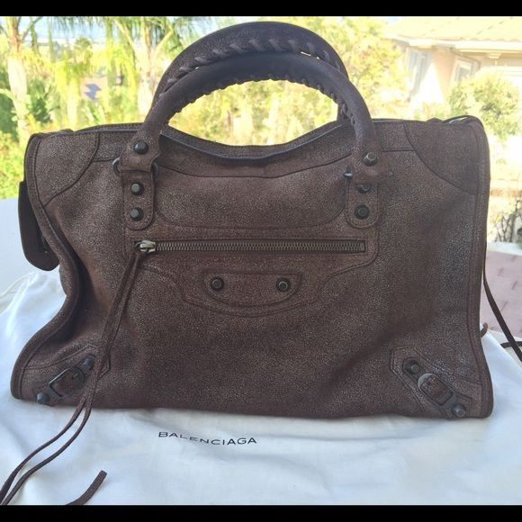 Balenciaga City Bag Brown Balenciaga City bag limited edition exclusively for Neiman Marcus. Great Condition. Used it only 5-8 times. Balenciaga Bags Shoulder Bags