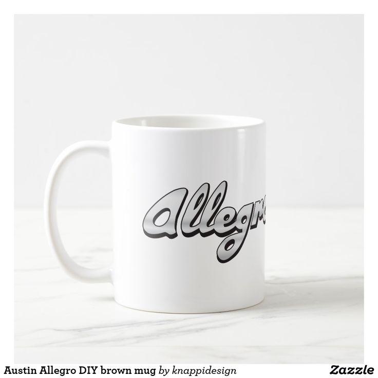 Austin Allegro DIY brown mug. Badge and car image on mug.  #austin #allegro #austinallegro #worstcar #british #britishmade #classiccars #carillustration #coffeemug #kaffemuggar #mukit #auto #automobile #70s #80s #brown #cornering