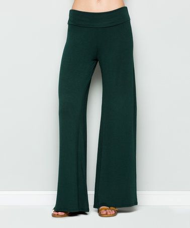 Love this Hunter Green Palazzo Pants on #zulily! #zulilyfinds