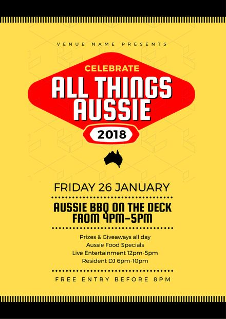 PosterAustralian Day Templates, DIY Design, Australia Day Posters and Flyers - Vegemite Design