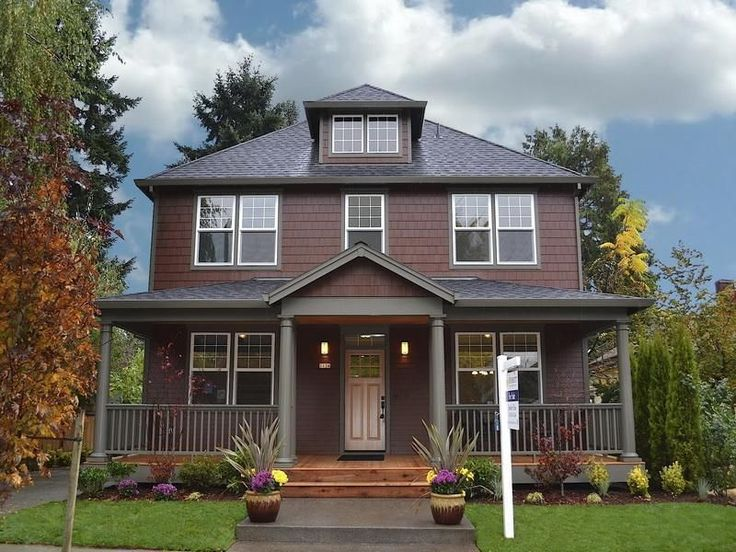 Two tone house color combinations pinterest exterior - Brown exterior house paint ...