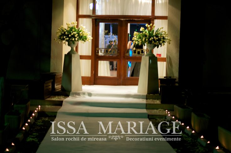 Decoratiuni intrare restaurant botez IssaMariage Valcea 2017