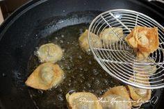 raviolis chinois frits au poulet