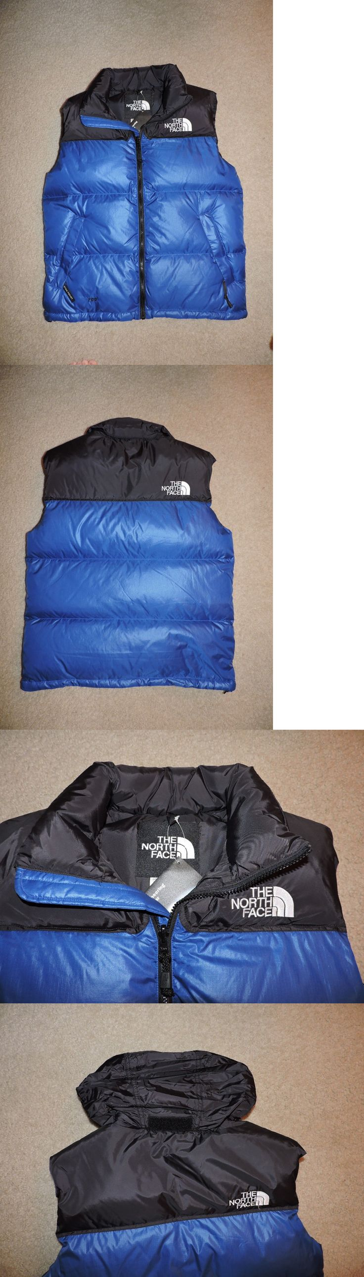 Vests 179012: Mens Extra Large The North Face Nuptse Vest 700 Fill New With Tags Blue Blk -> BUY IT NOW ONLY: $99.99 on eBay!