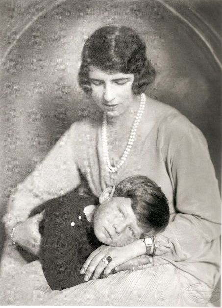 Princess Helen of Greece with her son Michael of Romania.