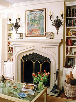 39 best arched mantels images on pinterest fire places for Tudor style fireplace
