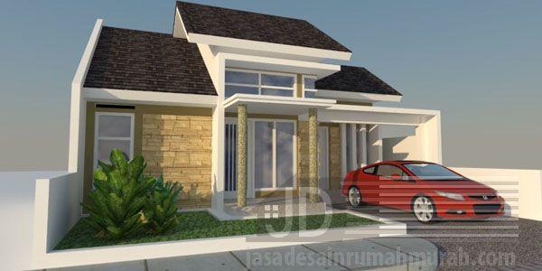 Rumah Bapak Maki desain minimalis modern tipe 45