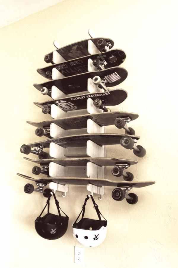 shelf for classic skateboards, longboards, penny boards, and more