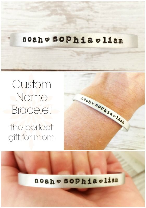 Custom Name Bracelet for Mom or Grandma with kids names. by JustJaynes $14.99