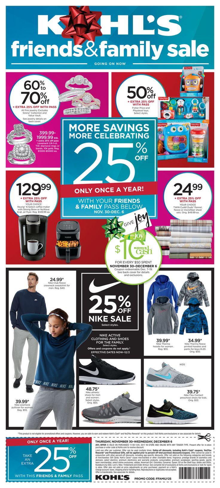 Kohl's Weekly Ad November 30 - December 2, 2017 - http://www.olcatalog.com/dept-clothing/kohls-weekly-ad.html