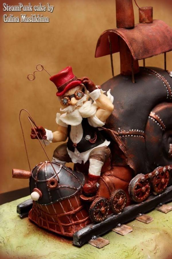 Steam snail 3D. - Cake by Galina Maslikhina