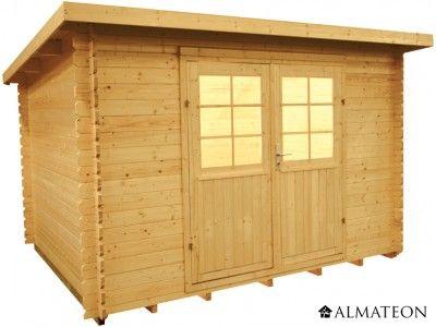 Chalet en sapin de 7.0 m². Modèle : WW-22. Dimensions : 320 x 220 x 217 cm.L'abri WW-22 se différencie par son toit monopente et donne à votre espace extérieur style tout à fait moderne. Il est réalisé à partir de sapin naturel, dont le développement dans des zones de grand froid lui permettent de bénéficier d'une densité élevée, d'où une résistance idéale aux intempéries et une belle étanchéité à l'eau et à l'air.
