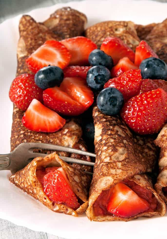 Traditional Swedish pancakes are like a cross between American pancakes and French crêpes. So easy and perfect for any meal!