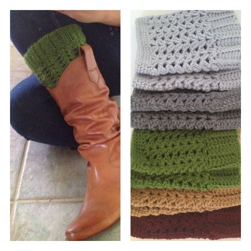 Crochet boot cuffs @Jan Heibult Vickney