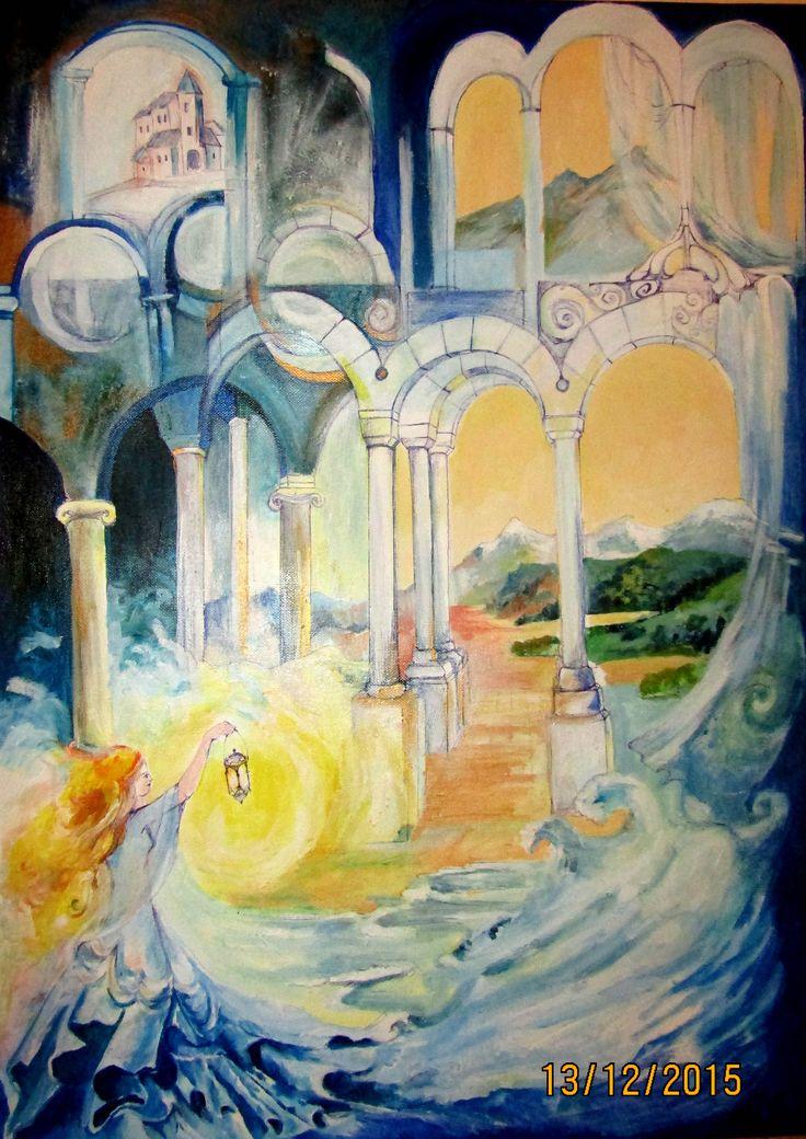 abstrakná malba, symbolická