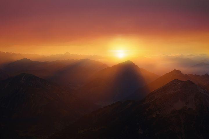 Free Image On Pixabay Landscape Mountains Sunset Sky Sunset Sky Mountain Sunset Image