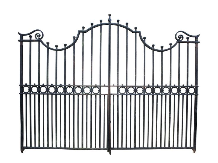 PAIR OF 10FT ANTIQUE WROUGHT IRON DRIVEWAY GATES - UK Architectural Heritage - 308cm