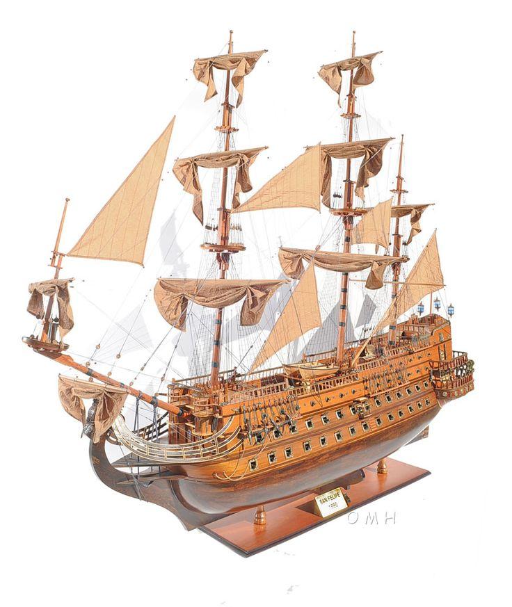 "CaptJimsCargo - XL 1690 San Felipe 88"" Wooden Tall Ship Model Spanish Galleon, (http://www.captjimscargo.com/model-tall-ships/warships/xl-1690-san-felipe-88-wooden-tall-ship-model-spanish-galleon/) Hotel Lobby Size! Our Largest Tall Ship Model! Over 7' Feet Long!"