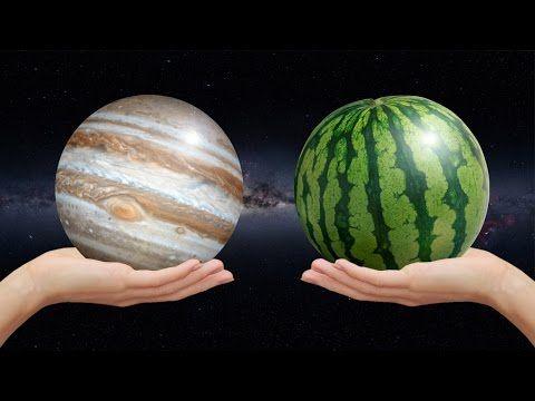▶ Planetas del sistema solar y frutas: tamaños relativos - YouTube