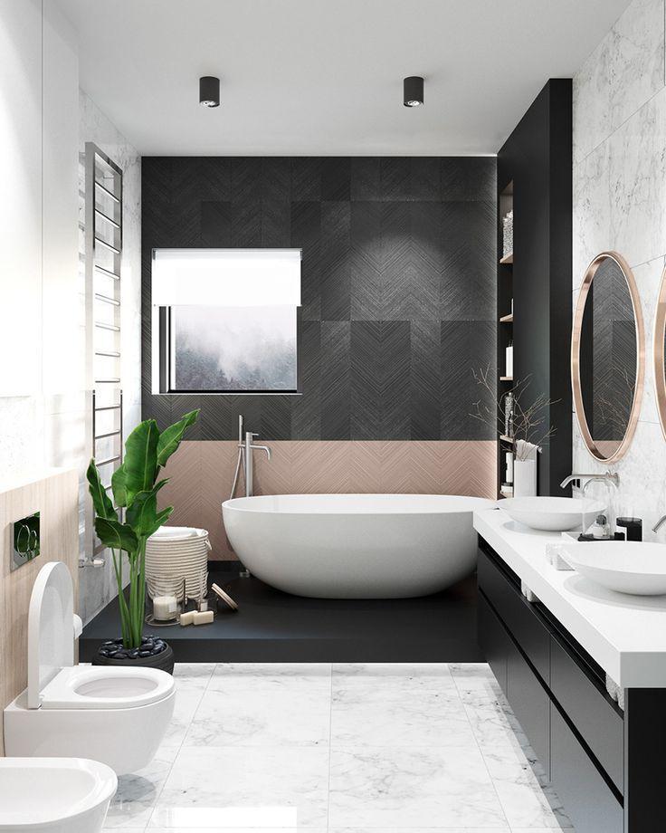 Modernes Badezimmer Deko Ideen Und Inspiration Salle De Bains