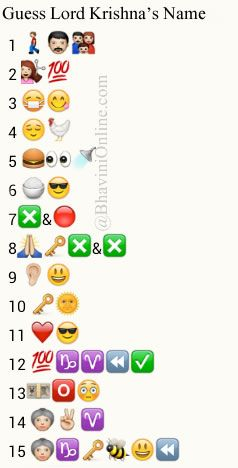 Whatsapp Puzzles Guess Lord Krishnas Names From Emoticons and Smileys