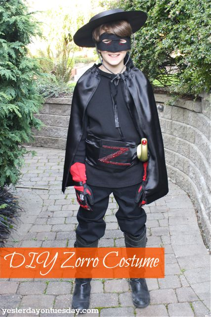 Zorro Costume plus 3 other fun and easy costume ideas for your kids!