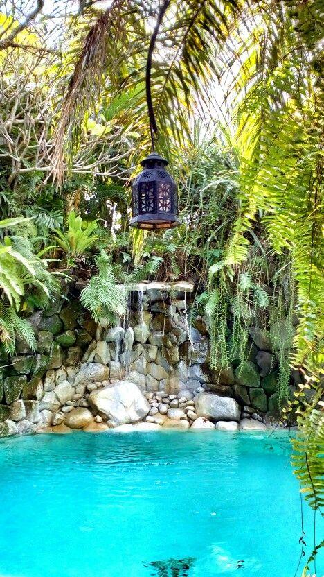 Nature themed swimming pool at @macavillasbali - #serenity #tranquility