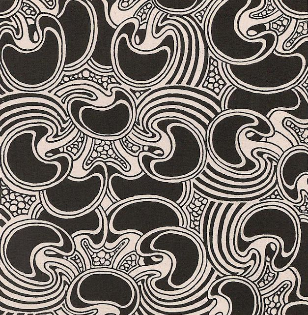 josef maria auchentaller textile designs published in ver sacrum vienna - Textile Design Blogs