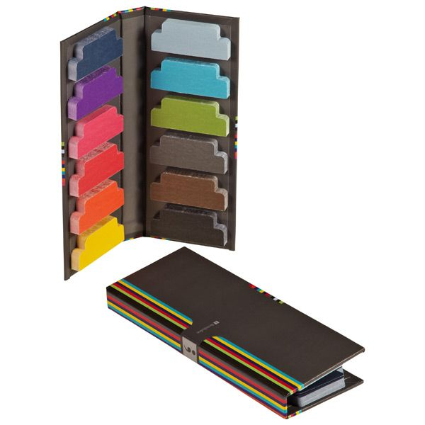 Passages in notebooks, presentations or books will snap to attention with our brightly colored Tab Markers. They're sticky enough to stay put but remove without damage, so they can be used on any type of paperwork. Choose from a dozen hues and color-code your notations. Best of all, a carrying case keeps them all neatly contained.