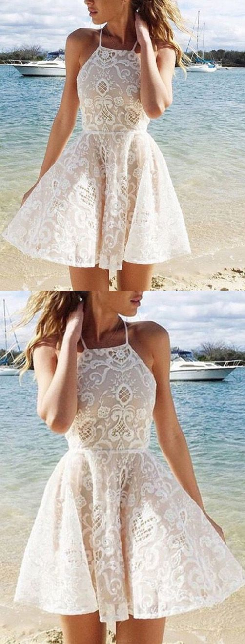 Short Prom Dresses, Lace Prom Dresses, Prom Dresses Short, Ivory Prom Dresses, Prom Dresses With Straps, Lace Homecoming Dresses, Prom Short Dresses, Short Prom Dresses With Straps, Short Homecoming Dresses, Ivory Lace dresses, Short Party Dresses, Lace Party Dresses, Mini Homecoming Dresses, Straps Homecoming Dresses