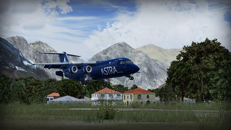 City of Gilgit - MSK - review (4*) • C-Aviation #Pakistan #Gilgit #Karakorum # BAe146