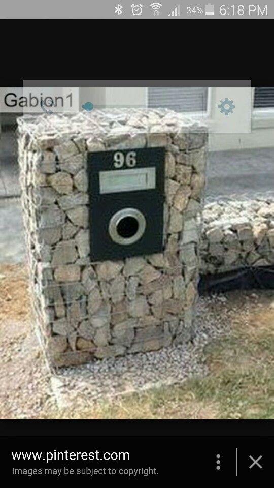 Gabion mail box
