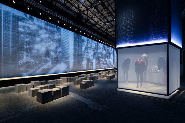 #metropolitan man #dynamic projections #city's skyline #parkour's athletes