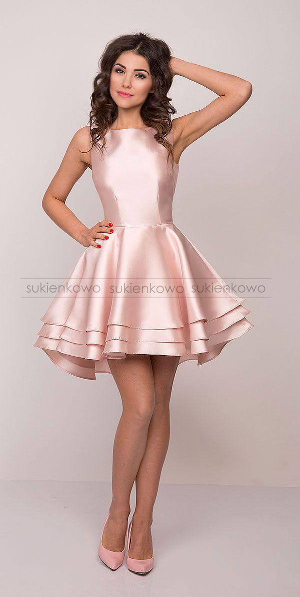 Sukienka rozkloszowana szafirowa ELIZA