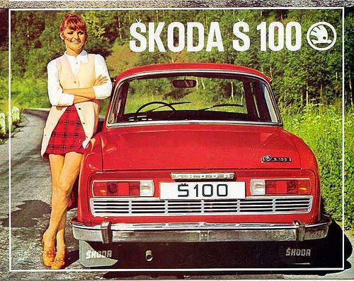 Vintage Advertisement: Skoda S100