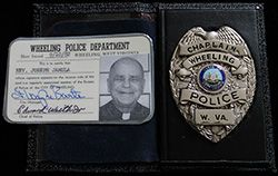 Ca. 1982 Wheeling, WV Police Chaplain Badge, Wallet, and Credentials of Reverend Joseph Jamula
