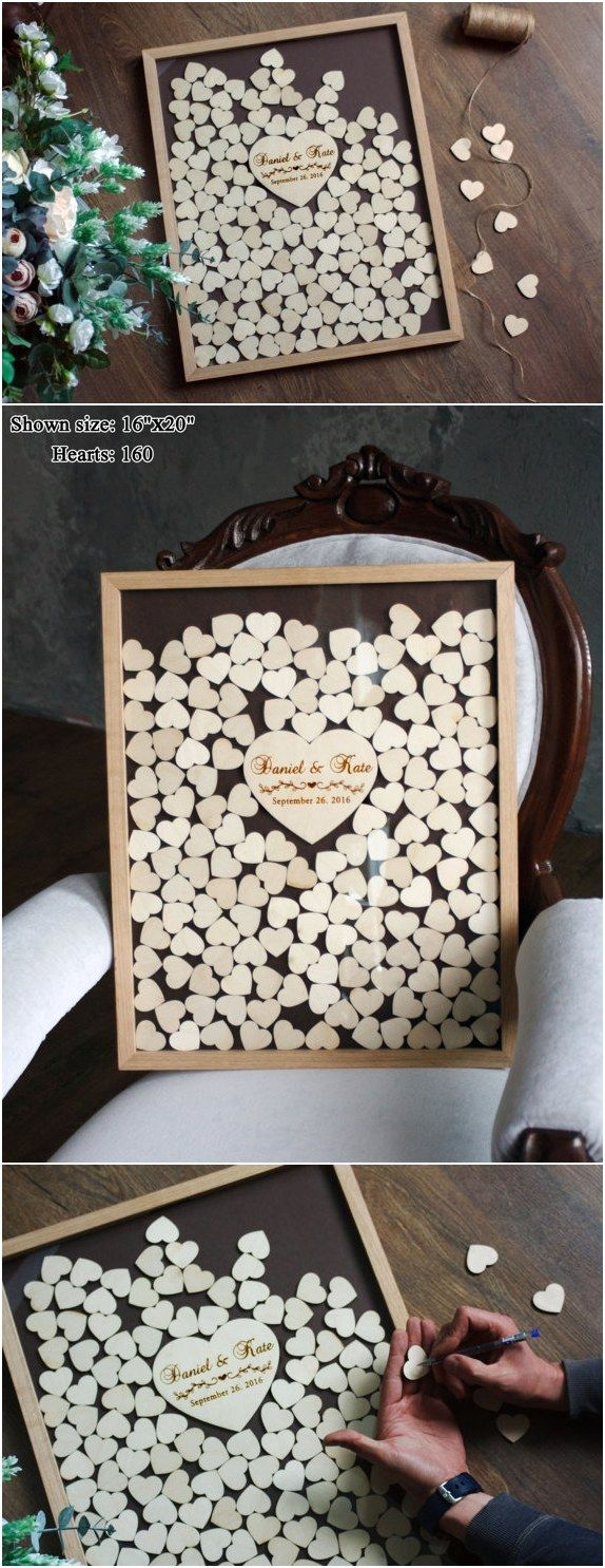 wedding guest book alternative personalized drop box / http://www.deerpearlflowers.com/rustic-country-wood-wedding-guest-books/2/