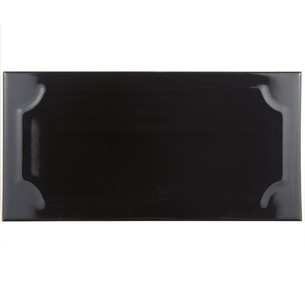 SomerTile 4x8-inch Thera Nero Ceramic Wall Tile (Case of 50) $8/ sq ft