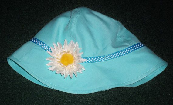 Easter Hats For Baby Girls  Light Blue Summer Hat by SugarBearHair